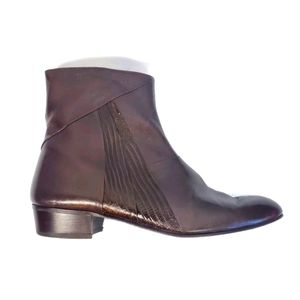 Valentino Men's Brown Leather Ankle Boot Size 11